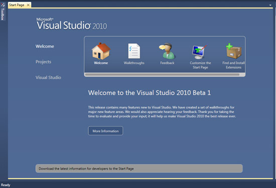 free visual studio 2010 beta download