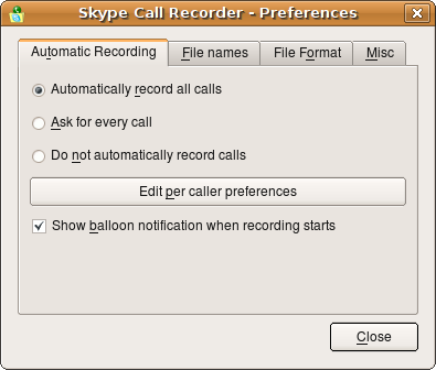 linux skype call recording