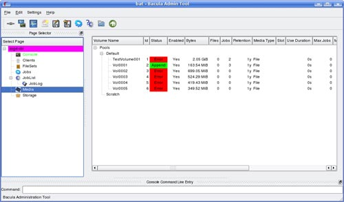 bacula - free network backup software