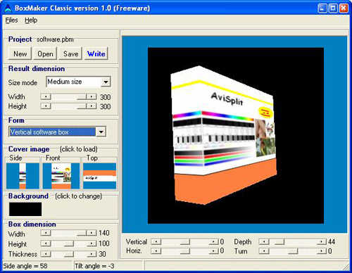 Free 3d box image maker software to create 3d box shot 3d creator free