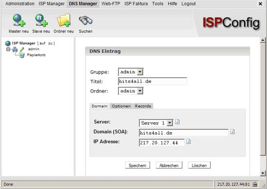 ispconfig free web host control panel