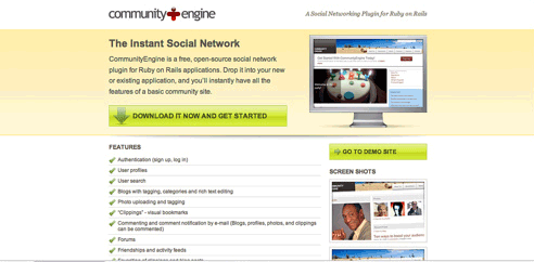 community engine - free social networking engine