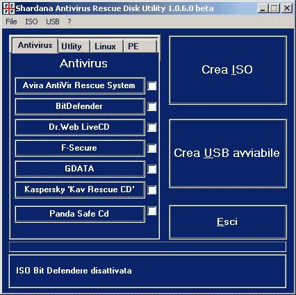 shardu antivirus rescue disk utility