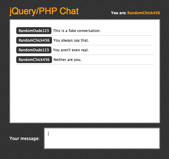 jquery php chat script