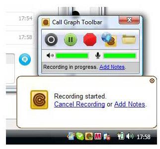 callgraph skype recorder plugin