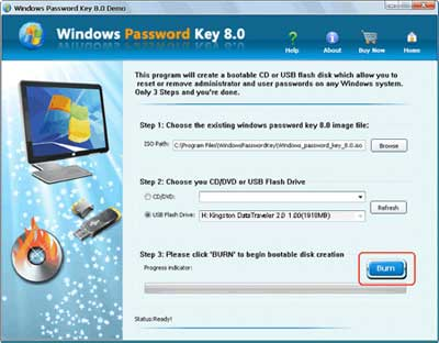 windows password key - burn