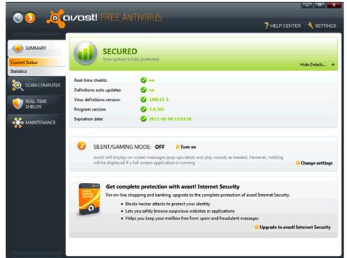 avast 5 free antivirus