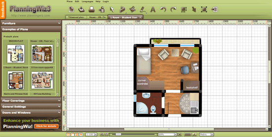 Online floor plan design service planningwiz - Simple floor plan maker free ...