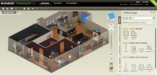 ... Home Design Software. AutoDesk HomeStyler 3D View