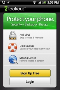 Lookout mobile antivirus