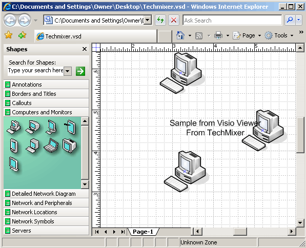 visio viewer from IE