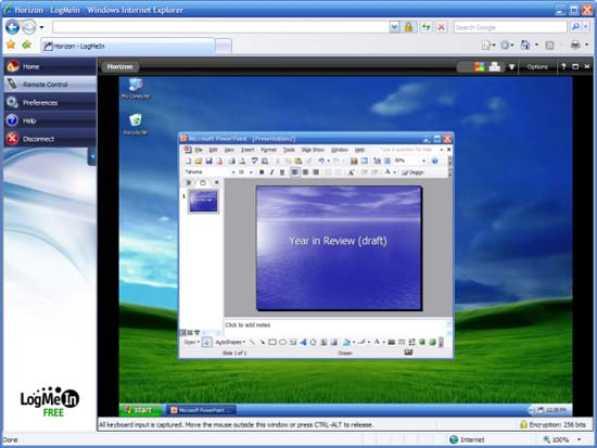 LogMeIn mobile remote desktop