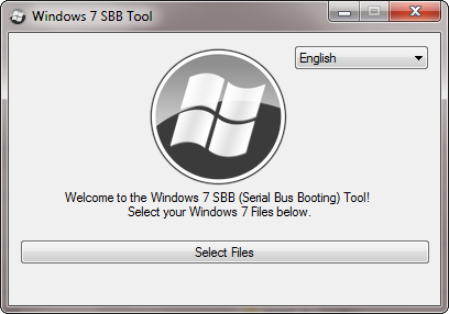 Windows7 SBB Tool Main Screen