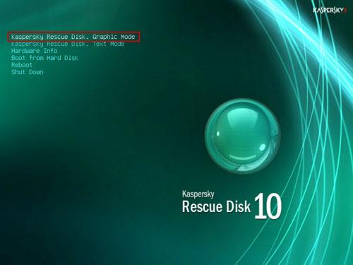Kaspersky Rescue Disk - bootable antivirus