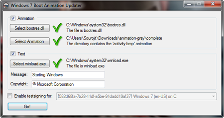 Windows 7 Boot Animation Updater