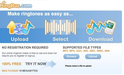 RingBuz - Free Ringtone Maker Online