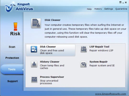 Kingsoft Antivirus cloud antivirus