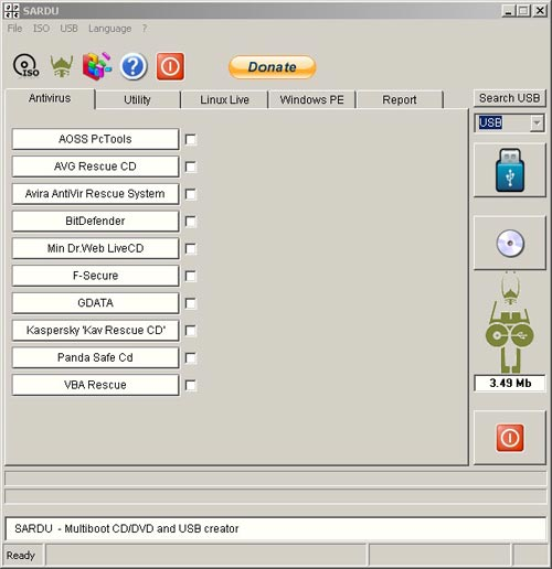 Sardu Antivirus Bootable CD Creator