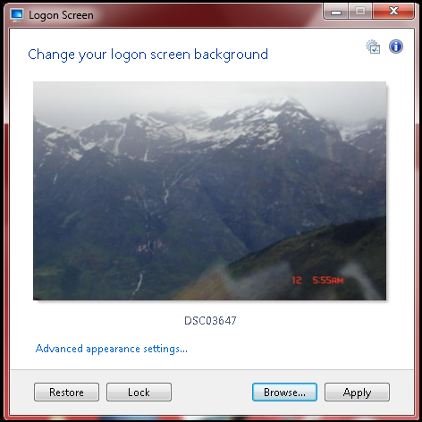 Logon Screen by DanielNET Software