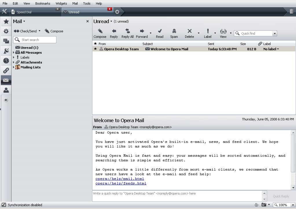 Free Opera Mail Client