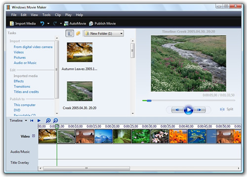 Windows Movie Maker - free movie Maker