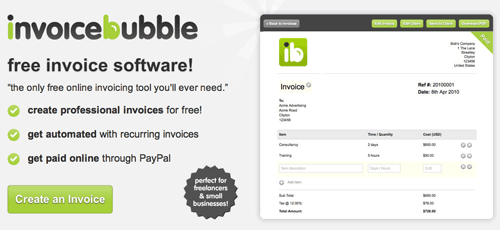Invoice Bubble - Free Invoice Software