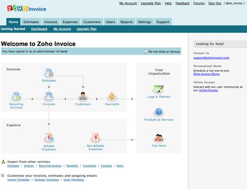 Zoho Invoice - Web Based Invoice