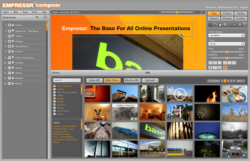 Empressr - Online presentation and slideshow software