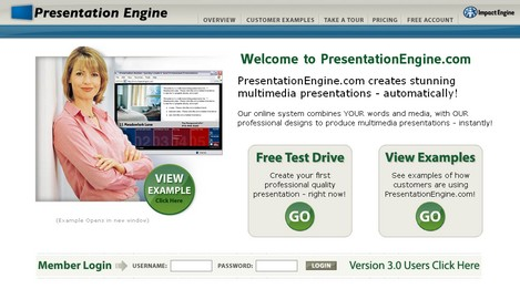 PresentationEngine.com-Online slideoshow creaor