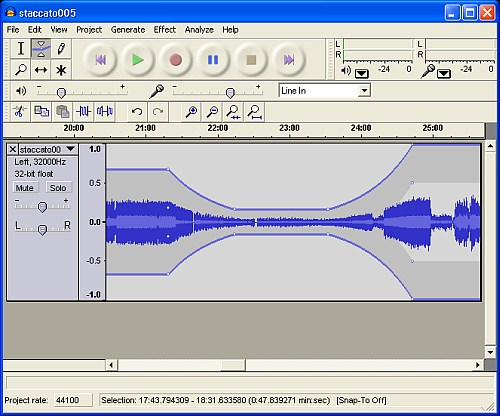 audacity - Open source music editor