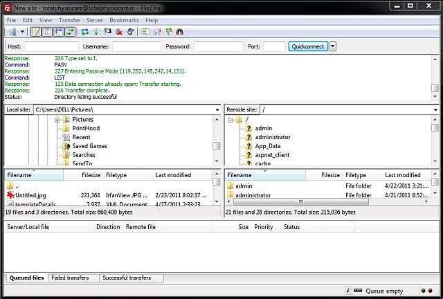 filezilla - free ftp software