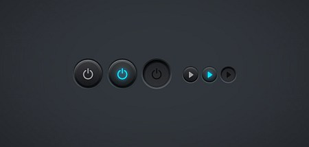 power button PSD file