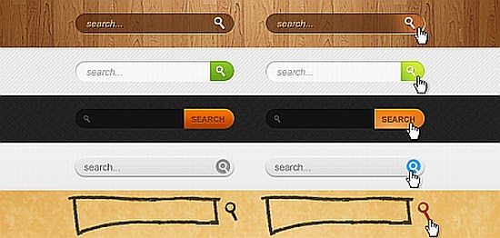 search box PSD Download
