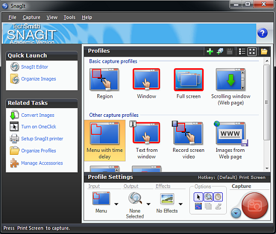snagit - free windows screen capturing software