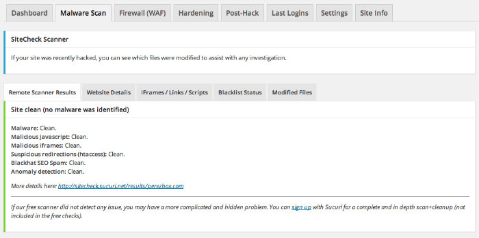 Sucuri WordPress Security Plugin