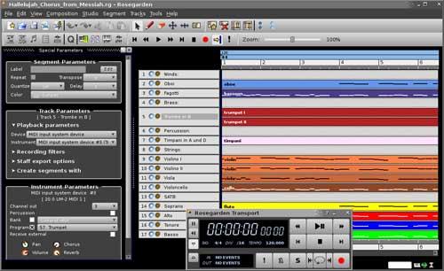 Rosegarden - Linux Digital Sound workstation