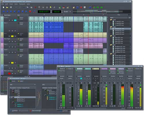 qtractor- audio sequencer