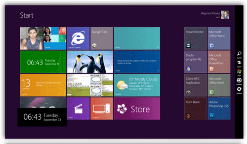 Windows 8 Metro UI Start Menu