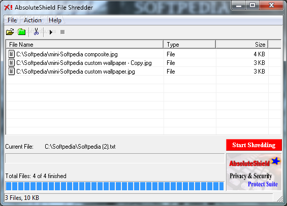AbsoluteShield File Shredder - Shred Files with less complexity
