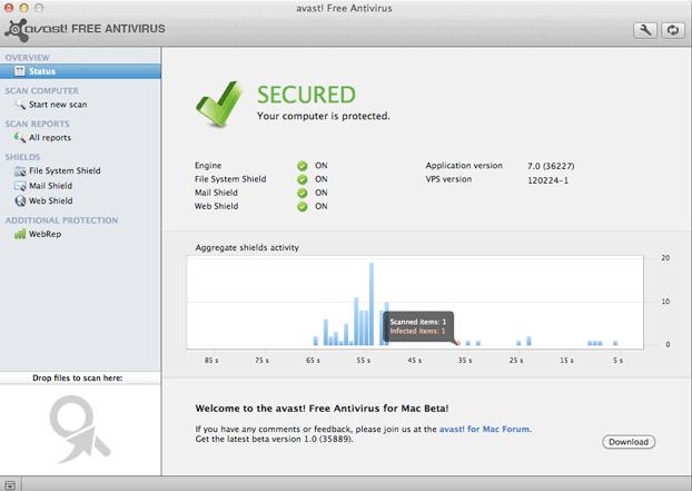 Avast Free Mac antivirus