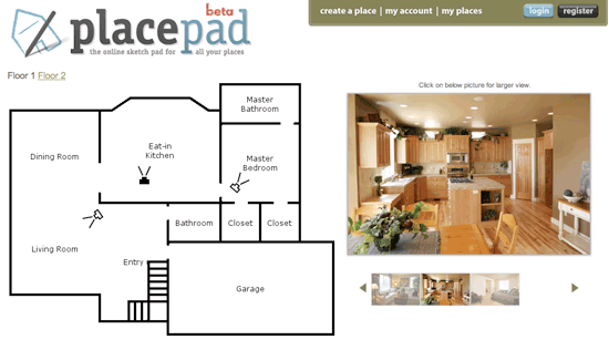 place pad is online floor plan design services doesnt ask home user to enter floor plan measurement value all you need letting just mention details about - Floor Plan Designer