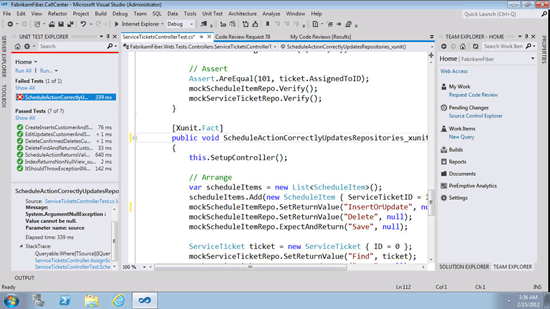 Visual Studio 11 workspace