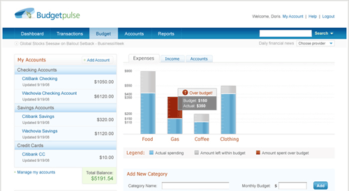 budget pulse - personal finance management software