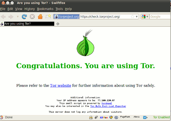tor - free Anonymous surfing software