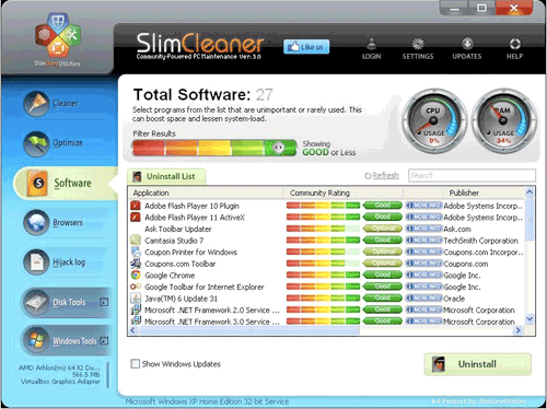 Slim Cleaner Software
