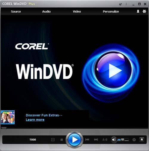 corel win dvd plus player
