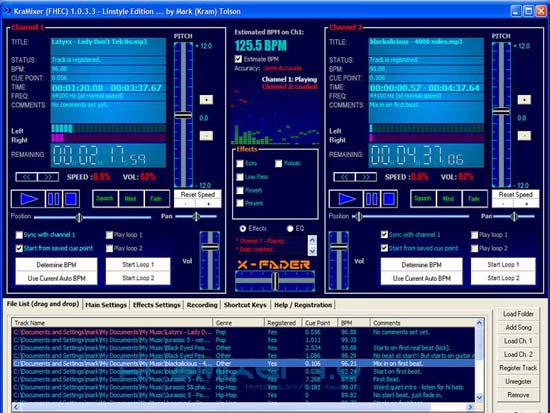 kramixer Free Windows DJ software