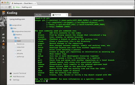 Koding SSH Terminal
