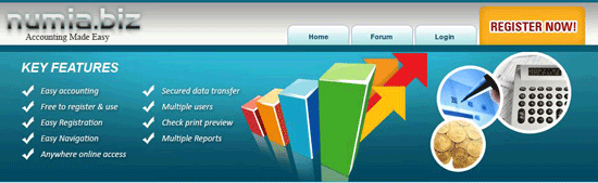 numia free online accounting software