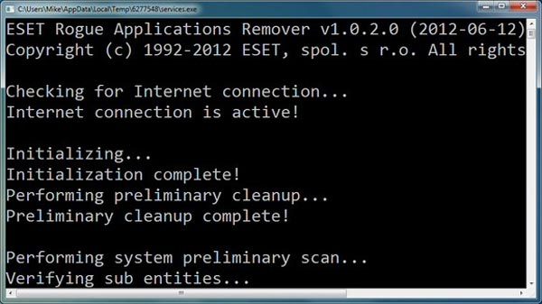 Eset Rogue application remover